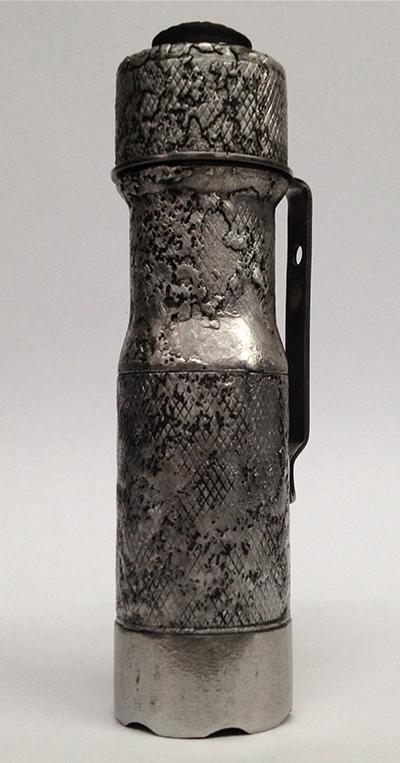 EDC corroded flashlight
