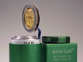 Action Light with battery partially removed