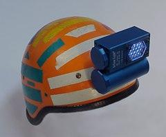 Action Light on helmet